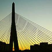 Zakim Bridge Silhouette Poster