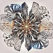 Zebra Flower Poster
