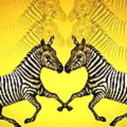 Zebra Heart Poster