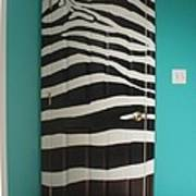 Zebra Stripe Mural - Door Number 2 Poster
