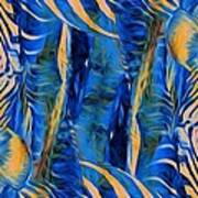 Zebras Abstracted Poster