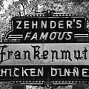 Zehnder's Black And White Poster
