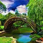 Zen Bridge Poster by Cary Shapiro