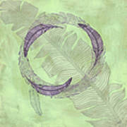 Zen Feather Circle I V Poster