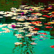 Zen Garden Water Lilies Pond Serenity And Beauty Lily Pads At The Lake Waterscene Art Carole Spandau Poster