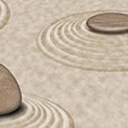 Zen Stones On Sand Garden Circles 2 Poster