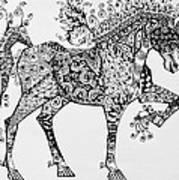 Zentangle Circus Horse Poster