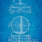 Zeppelin Navigable Balloon Patent Art 2 1899 Blueprint Poster