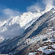 Zermatt Mountains Poster by Brian Jannsen