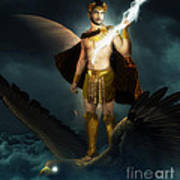 Zeus King Of The Gods Poster by Pixl Vixl