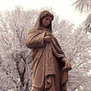 Ziba King Memorial Statue Front View Florida Usa Near Infrared Se Poster