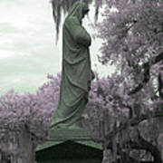 Ziba King Memorial Statue Side View Florida Usa Near Infrared Gr Poster
