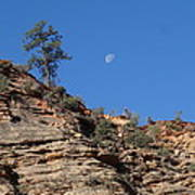 Zion National Park Moonrise Poster
