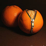 Zipped Oranges Poster