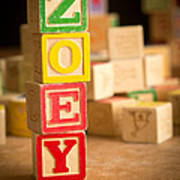 Zoey - Alphabet Blocks Poster