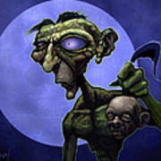 Zombie Head-hunter Poster