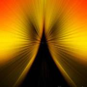 Zoom Orange Yellow Poster