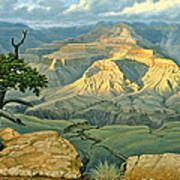 Zoroaster Temple From Yaki Point Poster by Paul Krapf
