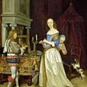 A Lady At Her Toilet Poster by Gerard ter Borch