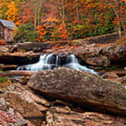 Autumn Leaves At The Mill Poster