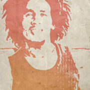 Bob Marley Brown Poster by Naxart Studio