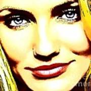Cameron Diaz Pop Portrait Poster