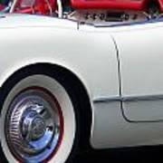 Classic White Corvette Poster