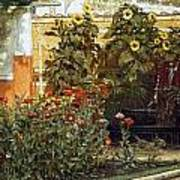 Corner Of A Roman Garden Poster by Sir Lawrence Alma-Tadema