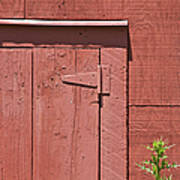 Faded Red Wood Barn Wall Poster