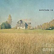 Farm House Solitude Poster