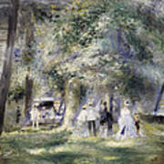 In The Park At Saint-cloud Poster