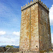 Melgaco Castle  In The North Of Portugal Poster by Inacio Pires