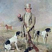 Richard Prince With Damon - The Late Colonel Mellish's Pointer Poster