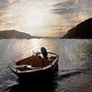 Sunset At Careel Bay Poster