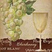 White Wine Collage Poster