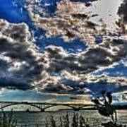 001 Peace Bridge Series II Beautiful Skies Poster