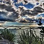 003 Peace Bridge Series II Beautiful Skies Poster