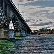 014 Peace Bridge Series II Beautiful Skies Poster
