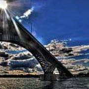 016 Peace Bridge Series II Beautiful Skies Poster