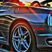 02 Ferrari Sunset Poster