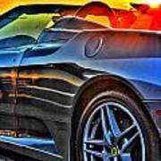 03 Ferrari Sunset Poster