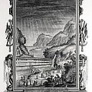 1731 Johann Scheuchzer Noah's Ark Flood Poster by Paul D Stewart