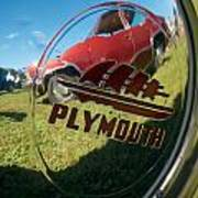 1947 Plymouth Coupe Hubcap Poster