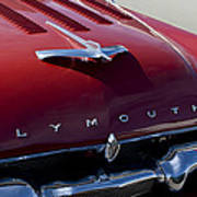 1956 Plymouth Hood Ornament Poster