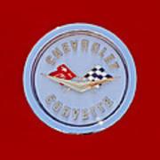 1958 Chevrolet Corvette Emblem Poster