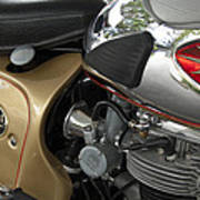 1966 Bsa 650 A-65 Spitfire Lightning Clubman Motorcycle Poster