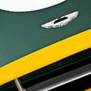 1993 Aston Martin Dbr2 Recreation Hood Emblem Poster by Jill Reger