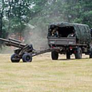 A Belgian Artillery Unit Setting Poster by Luc De Jaeger