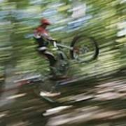 A Boy Flies Through The Air Poster