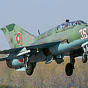 A Bulgarian Air Force Mig-21um Jet Poster by Anton Balakchiev